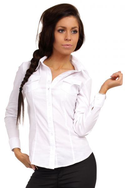 Discount White Long Sleeve Fitted Blouse - Long Blouse With Pants