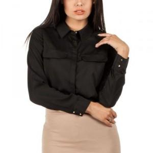 Women-Shirts-Tunics-discount-MOE060-Soft-plain-blouse-collar-black-MOE