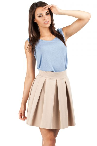 High Waisted Beige Skirt