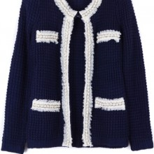 Buy All-matching Bejeweled Cardigan with discount from OASAP.