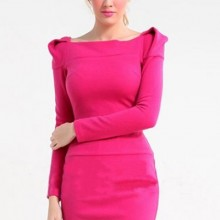 Buy All-matching Bodycon Knitted Dress with discount from OASAP.