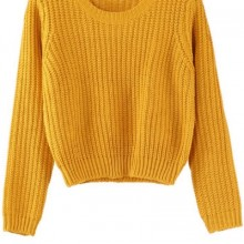 Buy All-matching Cropped Sweater with discount from OASAP.