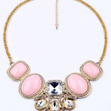 Buy All-matching Faux Stone Necklace with discount from OASAP.