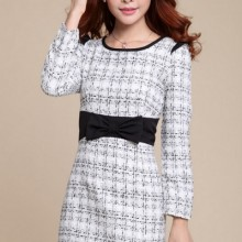 Buy All-matching Plaid Bowknot Dress with discount from OASAP.