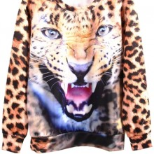 Buy Angry Leopard Sweatshirt with discount from OASAP.