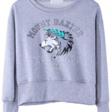 Buy Animal French Terry Cropped Sweatshirt with discount from OASAP.