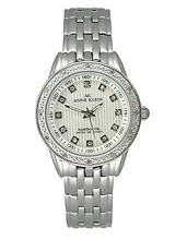Buy Anne Klein Diamond Silver-Tone Striped Dial Women's Watch #9935SVSV with discount from Watchzone.com.