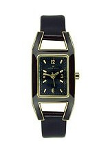 Buy Anne Klein Women's Leather watch #10-8700BKBK with discount from Watchzone.com.