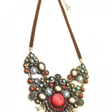 Buy Antique Cutout Bib Necklace with discount from OASAP.