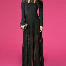 Buy Black Lace Maxi Dress with discount from OASAP.