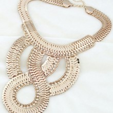 Buy Bold Fish Scale Necklace with discount from OASAP.