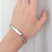 Buy Bracelet - Silver Chain with discount from Modekungen.