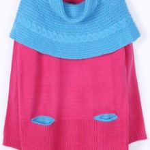 Buy Candy Color Neck Gaiter Sweater with discount from OASAP.