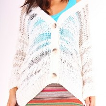 Buy Cardigan - Ivory with discount from Modekungen.