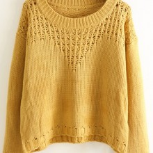 Buy Classic Cutout Cropped Sweater with discount from OASAP.