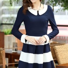 Buy Color Block A-line Dress with discount from OASAP.