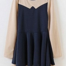 Buy Contrast Paneled A-line Dress with discount from OASAP.