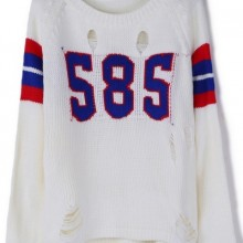 Buy Destroyed S8S Graphic Sweater with discount from OASAP.