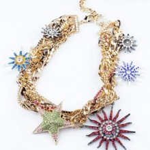 Buy Distinctive Multi-strand Necklace with discount from OASAP.