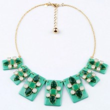 Buy Fascinating Faux Stone Necklace with discount from OASAP.