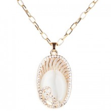 Buy Femme Faux Stone Necklace with discount from OASAP.