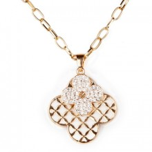 Buy Femme Floral Rhinestone Necklace with discount from OASAP.