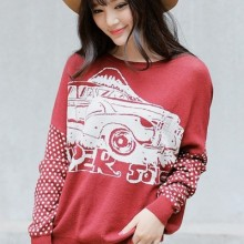 Buy Fireside Automobile Graphic Sweater with discount from OASAP.