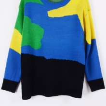 Buy Fireside Color Block Sweater with discount from OASAP.