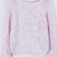 Buy Furry Heather Cropped Sweater with discount from OASAP.