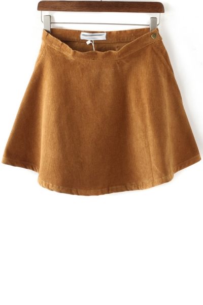 Buy Vintage A-line Corduroy Skirt with discount from OASAP.