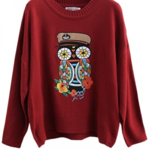 Buy Woodpecker Embroidered Sweater OASAP