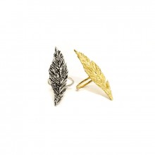 Buy Apparition Feather Ring. Yellow Gold or Oxidized Silver. with discount from MrKate.com.