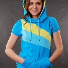Buy Damen Hoody Sublevel Pullover Grey Hawaiian Blue  discounted at GetShoes - German fashion online shop.