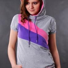 Buy Damen Hoody Sublevel Pullover Grey Melange  discounted at GetShoes - German fashion online shop.