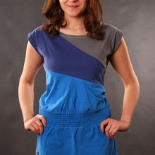 Buy Damen Kleid Sublevel Light Blue  discounted at GetShoes - German fashion online shop.