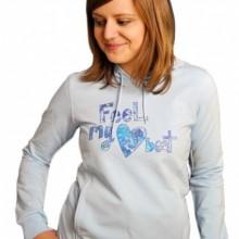 Buy ELEMENT Heart Beat Kapuzenpullover Baby Blau Girls Hoody  discounted at GetShoes - German fashion online shop.