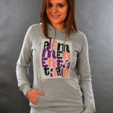 Buy Element Girls Hoody Stacks Grey Heather  discounted at GetShoes - German fashion online shop.