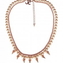 Buy Brass Necklace with Spikes JCH6 with discount from Carnet de Mode.