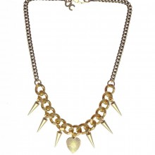 Buy Brass and Bronze Necklace with Spikes JCH13 with discount from Carnet de Mode.