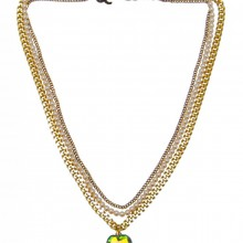 Buy Brass and Pearl Necklace with Heart Charm JCH21 with discount from Carnet de Mode.