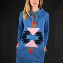 Buy Billabong Long Hoodie Maden Cali Blue Heather  discounted at GetShoes - German fashion online shop.