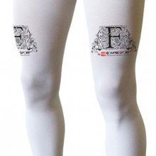 Buy Elastic stocking Compressport Full Leg White  discounted at RunnerInn -  European sports fashion online shop located in Spain.