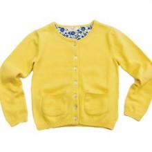 Buy Frugi Mädchen Strickjacke Gelb Bio Baumwolle  discounted at Not Just Pink - German kids fashion online shop.